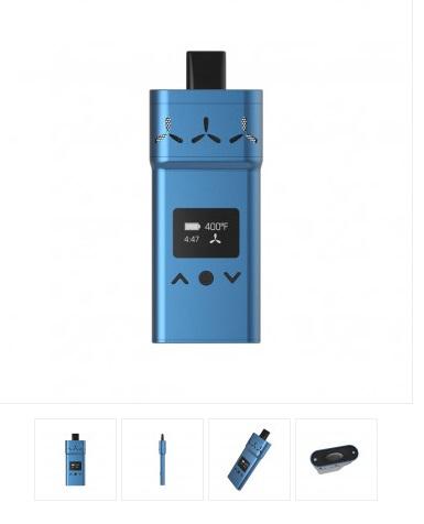 AirVape X Vaporizer in blau