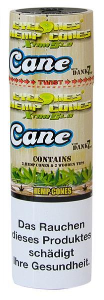 Cyclones XtraSlo Cone Blunts, HEMP- Cane